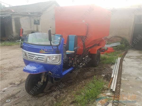 洪山区现代化养殖投料车 节省人力的喂料机