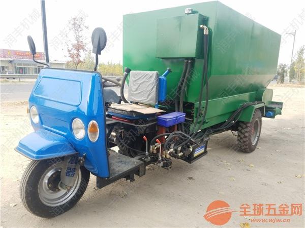 枣阳驴场饲养撒料车 环保电动喂料设备