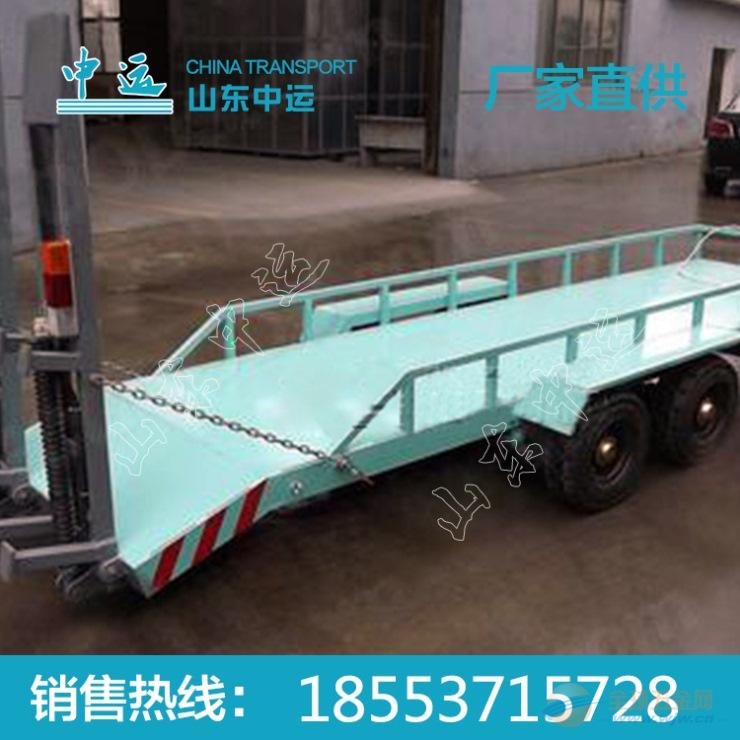 工业用履带车用特种牵引平板拖车价格 牵引平板拖车厂家