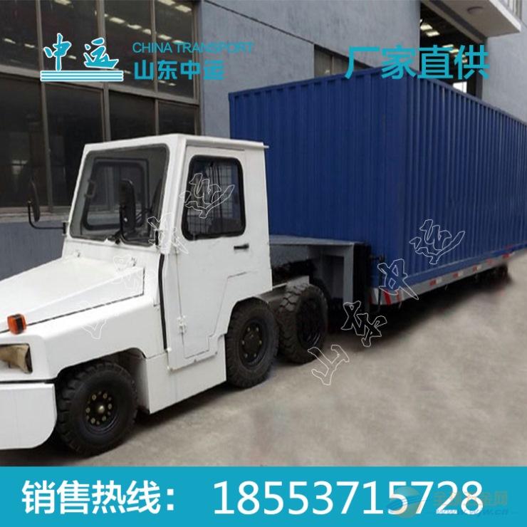 物流用半挂式集装箱牵引平板拖车厂家直销 牵引平板拖车价格