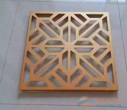 中式花样木纹铝窗花,铝四方管焊接型材铝窗花