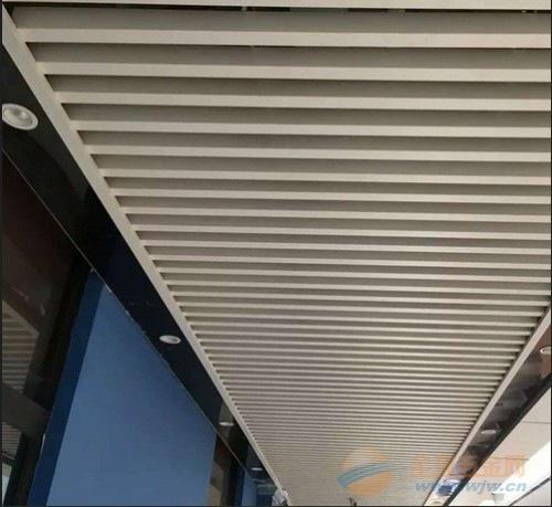 供应商场走廊吊顶u形铝挂片-条形铝格栅-铝方通