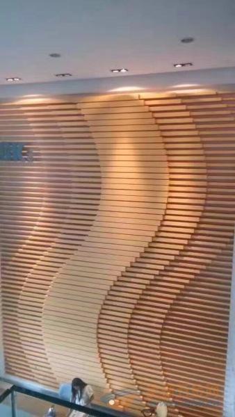 欧品铝业 厂家生产 造型铝方通 弧形铝方通