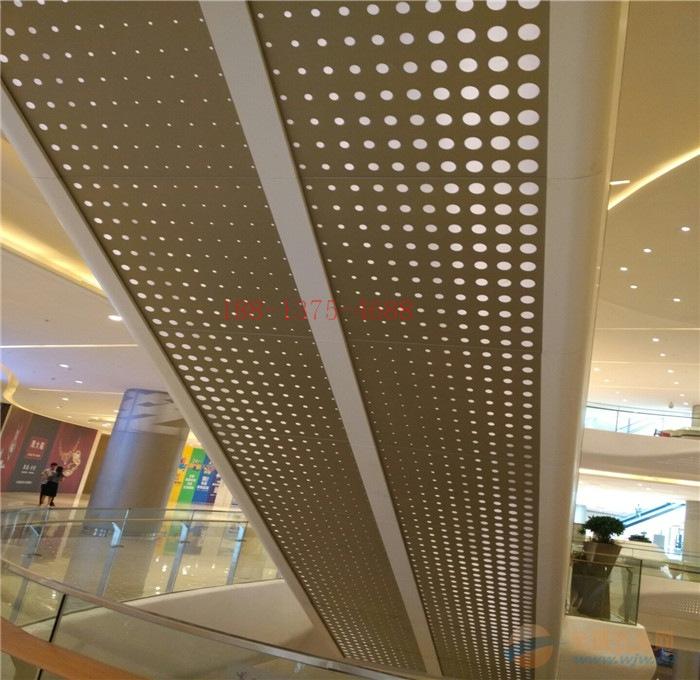 大型商场中庭_扶梯侧面铝单板_专业厂家深化加工