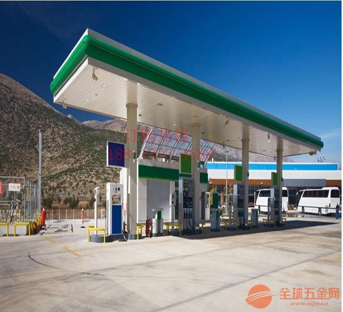 加油站罩棚珍珠白铝条板,1个厚300宽铝扣板吊顶