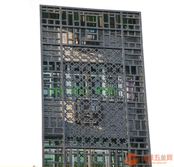 定制沿街整治复古铝合金窗花|防盗铝花格窗|铝合金焊接格栅