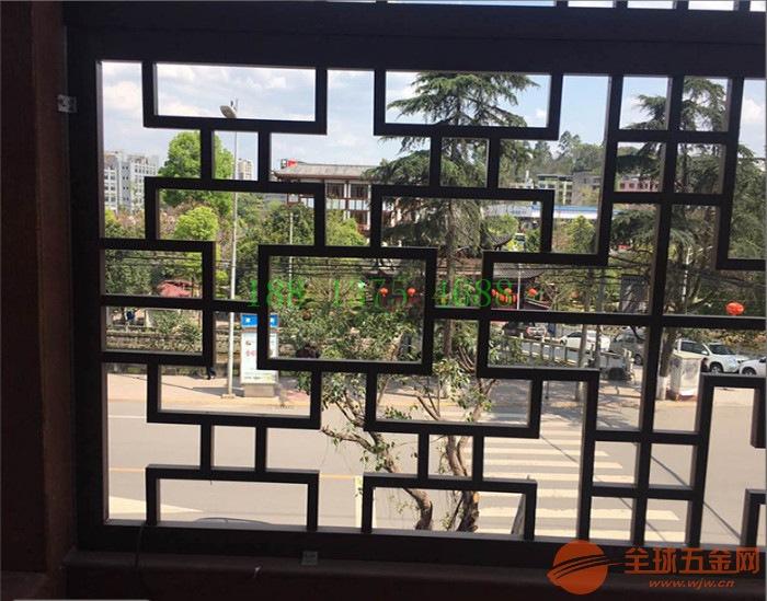 供应沿街复古铝合金窗花|焊接铝花格|仿木漆铝窗花