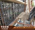 定做复古风格铝合金花格窗|铝型材焊接花格|木纹铝窗花