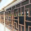 厂家直供防古铝窗花\烤漆木色铝花格\防盗铝窗花