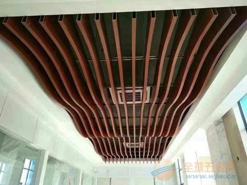 德普龙-弧形吊顶铝方通装饰_雕刻异形铝方通
