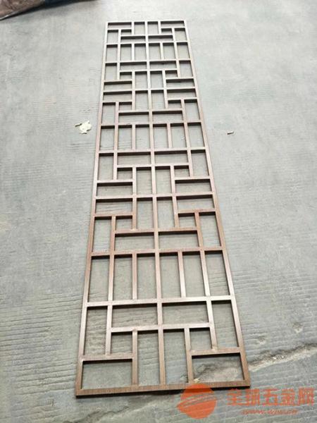江西中国风红色铝窗花 古铜色铝花格定做厂家