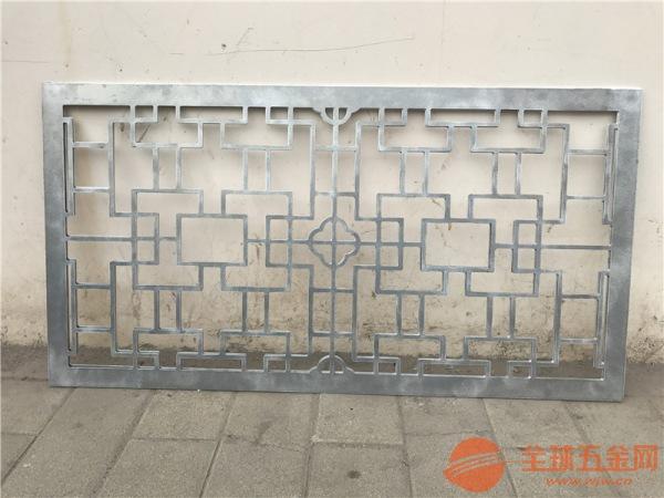 安徽仿木纹色铝窗花 仿古铝格子 烤漆铝挂落厂家