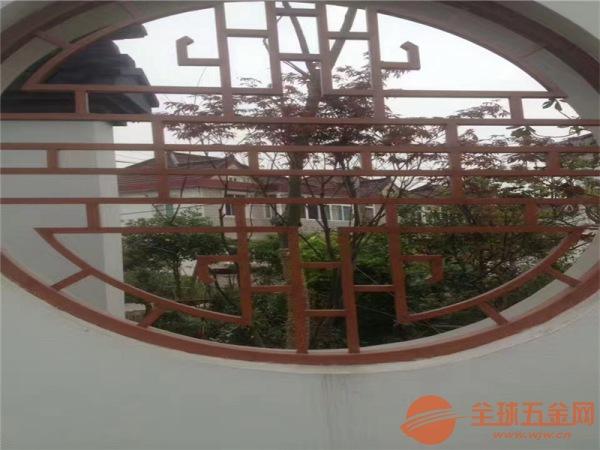 六盘水酒楼复古外墙铝窗花 窗户木纹防盗铝花格