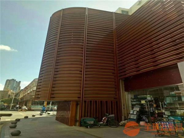 供应型材幕墙铝方通_造型弧形铝方管_幕墙异形铝格栅