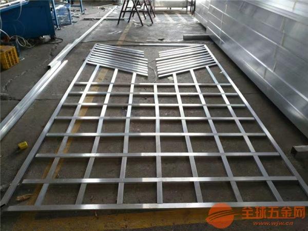 供应铝合金方管型材铝花格_人工烧焊拼接铝窗花工厂