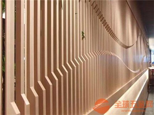 学校图书馆翻新装饰凹凸铝方通,墙身弧形铝方通