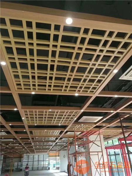 通道吊顶装饰型材铝方管无缝拼接铝窗花 铝花格