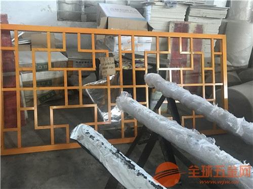 咖啡色型材铝窗花 仿古木纹色铝窗花定制厂家