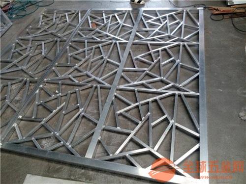 定制复古中式铝花格/铝合金型材铝窗花,龟背纹窗花