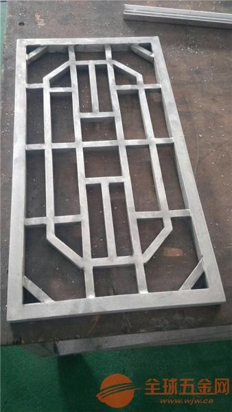 铝合金四方管型材冰裂纹铝窗花 艺术龟背纹铝花格