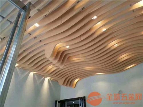 墙身装饰造型铝方通 电影院通道装饰弧形铝方通