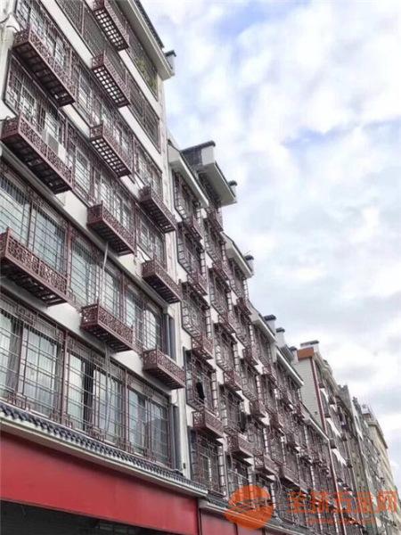 陕西旧街道翻新改造户外装饰仿木纹铝窗花 铝花格