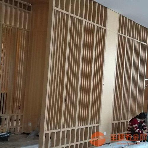 仿古复式方管焊接铝屏风 木纹铝花格窗生产厂家
