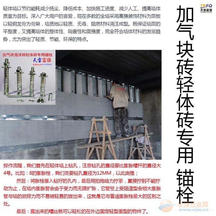 天宝富强供应空心砖膨胀丝 空心墙专用膨胀栓 多孔膨胀栓