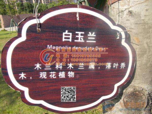旅游景点名贵树木介绍牌附带二维码树木吊牌二维码树木挂牌批发