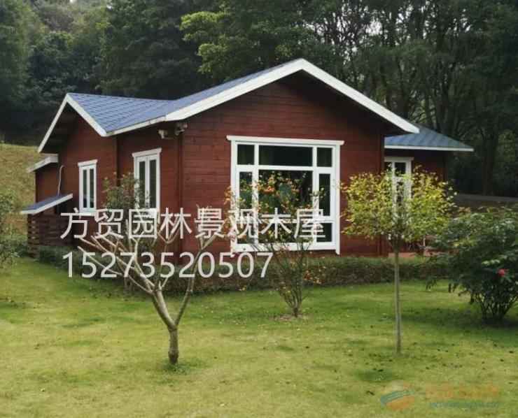 广东省木结构别墅设计施工防腐木凉亭长廊定做施工