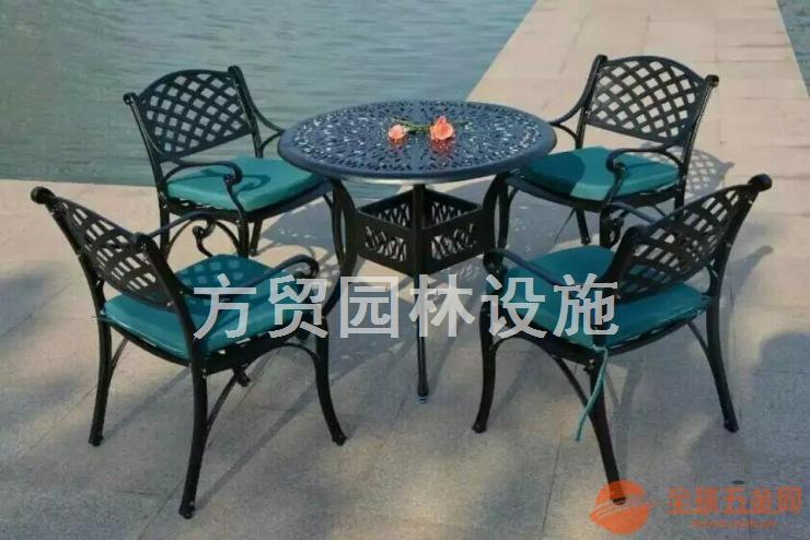景观不锈钢实木套椅定做实木户外家具工厂价直销