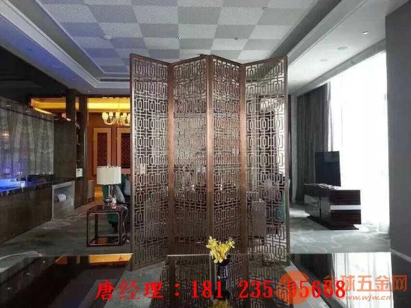 铜花格定制加工,铜花雕刻价格'五星酒店铜屏风'