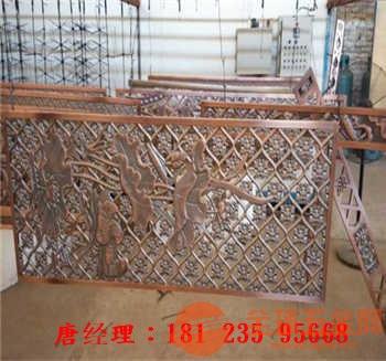 仿古铜不锈钢格栅、仿古铜立式不锈钢花格、立式不锈钢屏风价格