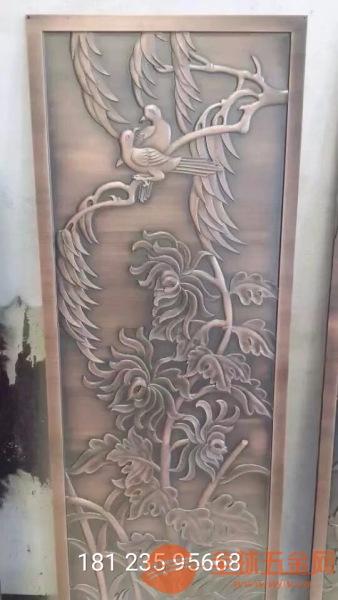 中国风仿铜花格、中国风仿铜雕刻