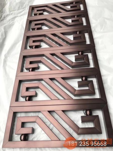 10mm铝合金仿铜屏风厂、15mm铸铝仿铜隔断厂家