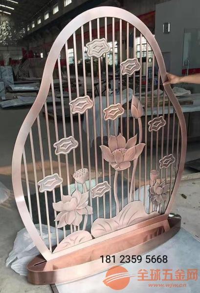 中国风仿古铜铝雕格栅、中国风铜雕组合屏风