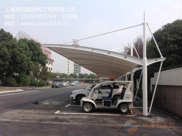 婺源县y形q235钢结构停车蓬立柱拼接