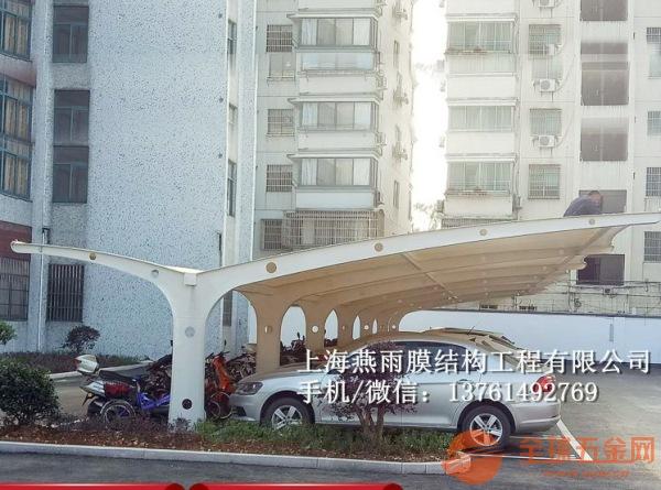 廊坊市双开立柱自行车停车蓬立柱拼接组装