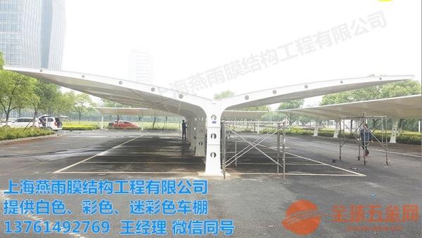 南桥镇燕雨膜结构汽车停车棚系列
