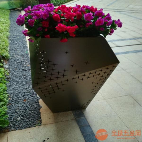 供应园林园艺不锈钢创意花盆定制酒店会所摆件装饰花盆