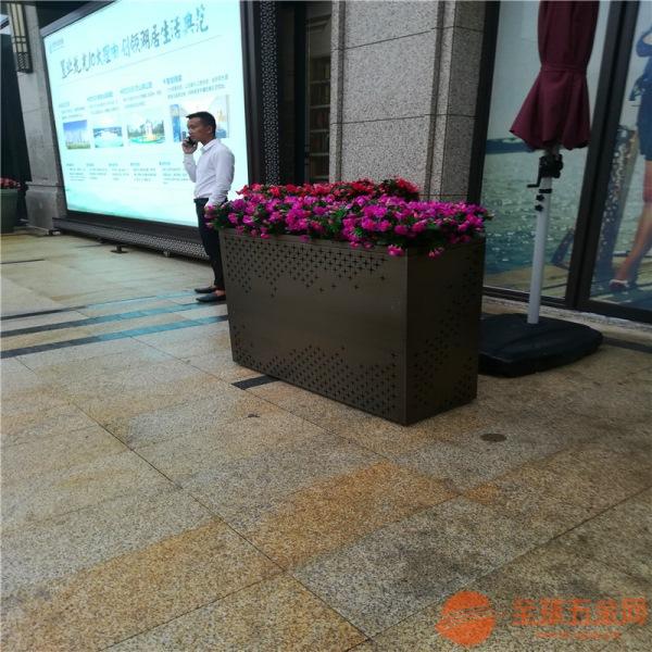 供应山东酒店装饰花盆定制不锈钢园林绿化组合植树花盆