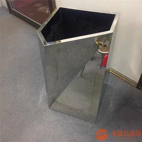 供应上海酒店会所摆件花盆定制不锈钢镀色钛金镜面花盆批发