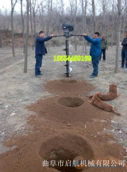 威海 荒地种树挖坑机 手提轻便打坑机
