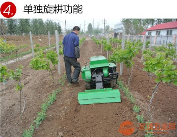 焦作果园柴油28马力管理机黏土也能用的开沟施肥机