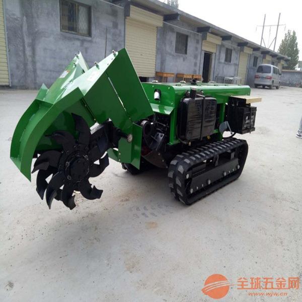 果树土杂肥回填机 橡胶履带旋耕机 履带式果园开沟施肥机
