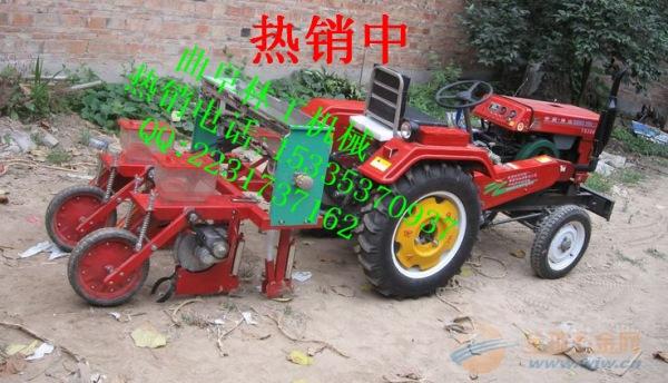 双垄单行玉米播种机 家用手扶玉米播种机
