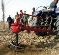 大型拖拉机带的挖坑机价格