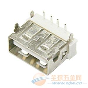 USB AF 母座短体90度DIP 10.6四锥脚反