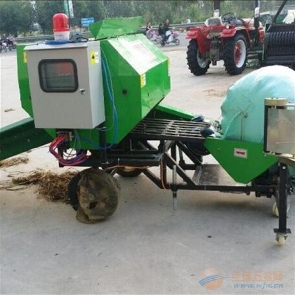安乡县草料稻草粉碎打捆包膜机价格合理