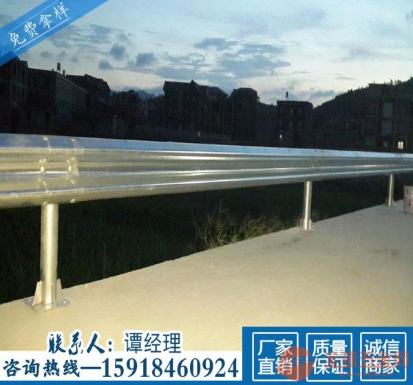 肇庆乡道波纹板安装 河边双波围栏防阻块 清远公路两侧